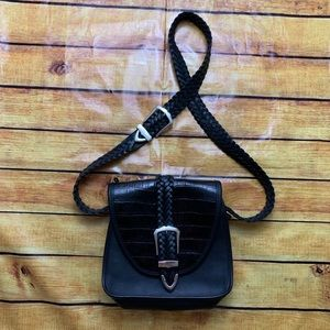 Brighton braided leather western boho crossbody